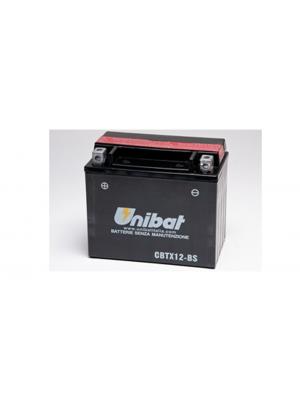 Batteria Moto CBTX12-BS, 10 Ah, 180 A/EN Unibat