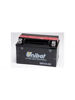 Batteria moto CBTX7A-BS, 6 Ah, 90 A/EN Unibat