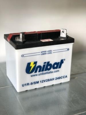 Batteria Moto Convenzionale U1R9-SM, 28 Ah, 235 A/EN Unibat