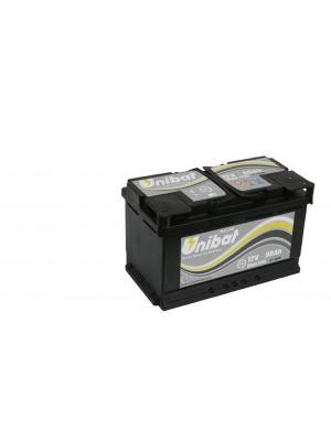 Batteria AGM80 Start Stop AH80 A-EN 800 Marca UNIBAT